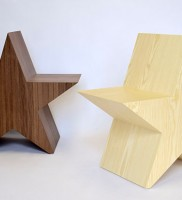 represented by Judy Straten Art-Design, Misch van der Wekke, a star is born chair, Ashwood and Walnut