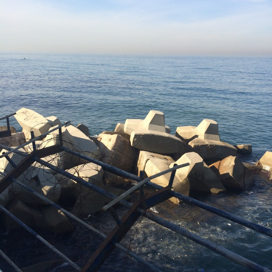 concrete and water. Lebanon 2016